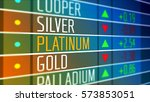 global platinum price on the... | Shutterstock . vector #573853051