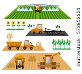 vector set of agricultural... | Shutterstock .eps vector #573853321