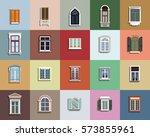 vector windows set... | Shutterstock .eps vector #573855961