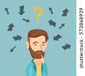 caucasian business man standing ... | Shutterstock .eps vector #573868939