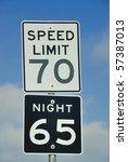 speed limit sign | Shutterstock . vector #57387013