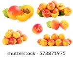 Ripe Apricots Fruit Isolated O...