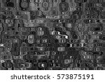 black and white abstractions... | Shutterstock . vector #573875191