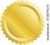 blank award with golden medal... | Shutterstock .eps vector #573879175