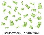 flying money background  ... | Shutterstock .eps vector #573897061