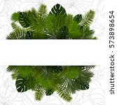 illustration of various palm... | Shutterstock .eps vector #573898654