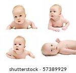 newborn babys is crawling set... | Shutterstock . vector #57389929
