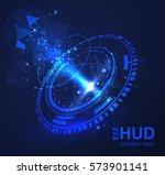 hud circles abstract design...
