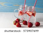 Glasses Of Strawberry Summer...