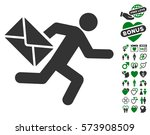 mail courier pictograph with... | Shutterstock .eps vector #573908509