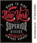 vintage biker graphics and... | Shutterstock .eps vector #573910384