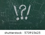 green chalkboard with... | Shutterstock . vector #573915625