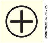 plus icon  positive symbol... | Shutterstock .eps vector #573917497