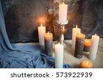 romantic interior for valentine'... | Shutterstock . vector #573922939