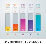 graph infographics design... | Shutterstock .eps vector #573923971