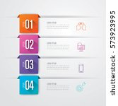 Infographics design vector and marketing icons can be used for workflow layout, diagram, annual report, web design. Business concept with 4 options, steps or processes. | Shutterstock vector #573923995