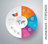 infographics design vector and... | Shutterstock .eps vector #573924031