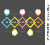 five step timeline infographic. ... | Shutterstock .eps vector #573924811