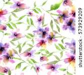 seamless floral background.... | Shutterstock . vector #573929209
