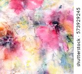 floral background. watercolor... | Shutterstock . vector #573929245