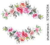 floral background. watercolor... | Shutterstock . vector #573929254