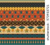 ancient egyptian ornament... | Shutterstock .eps vector #573933721