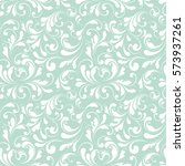 seamless pattern with flowers.... | Shutterstock .eps vector #573937261