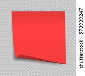 sticky note isolated on... | Shutterstock .eps vector #573939247
