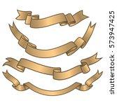 set of vintage ribbons.... | Shutterstock . vector #573947425