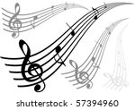 illustration of a stave on... | Shutterstock .eps vector #57394960