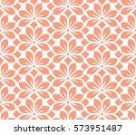 seamless floral vector pattern. ... | Shutterstock .eps vector #573951487
