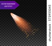 a bright comet with large dust... | Shutterstock .eps vector #573955045