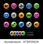 media player icons    the... | Shutterstock .eps vector #573955429
