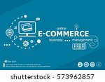 e commerce word cloud and... | Shutterstock .eps vector #573962857