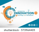 innovation business concept on... | Shutterstock .eps vector #573964405
