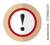 sign of attention. flat design. | Shutterstock .eps vector #573966115