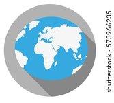 earth icon. flat design. | Shutterstock .eps vector #573966235