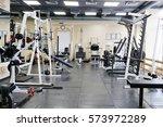 interior of a fitness hall | Shutterstock . vector #573972289