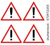 set of hazard danger black... | Shutterstock .eps vector #573972355