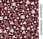 seamless vintage flower pattern ... | Shutterstock .eps vector #573976051