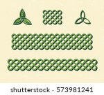 traditional green celtic style... | Shutterstock .eps vector #573981241