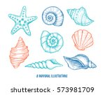hand drawn vector illustrations ... | Shutterstock .eps vector #573981709