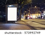 outdoor advertising billboard... | Shutterstock . vector #573992749