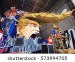 viareggio  february 2017  ... | Shutterstock . vector #573994705