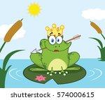 princess frog cartoon mascot...