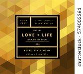 romantic love gold minimal logo ...   Shutterstock .eps vector #574002361