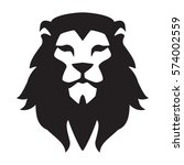 lion head logo template. animal ... | Shutterstock .eps vector #574002559