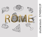 rome vector illustration.  hand ... | Shutterstock .eps vector #574004119
