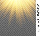 vector golden rays. light... | Shutterstock .eps vector #574009369
