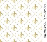 seamless golden pattern with...   Shutterstock .eps vector #574009894